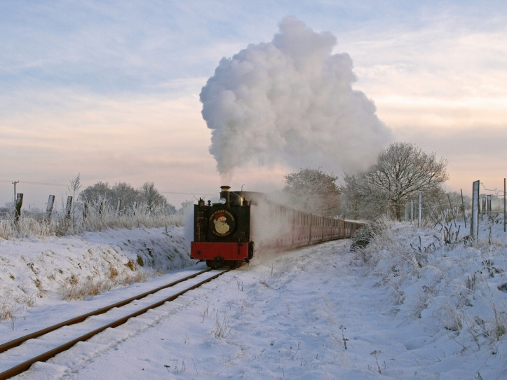 Bure Valley Railway at Chistmas