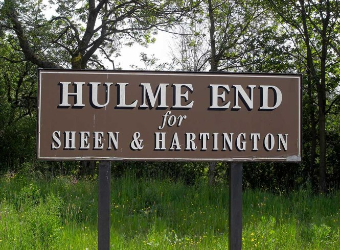 Hulme End Station Sign