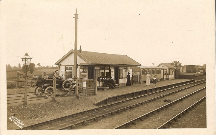 Thaxted Railway Station Postcard