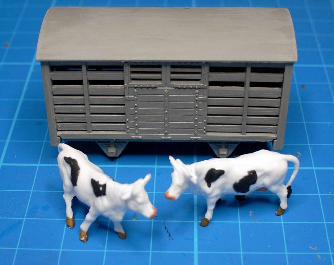Cattle Wagon Assembled Unpainted