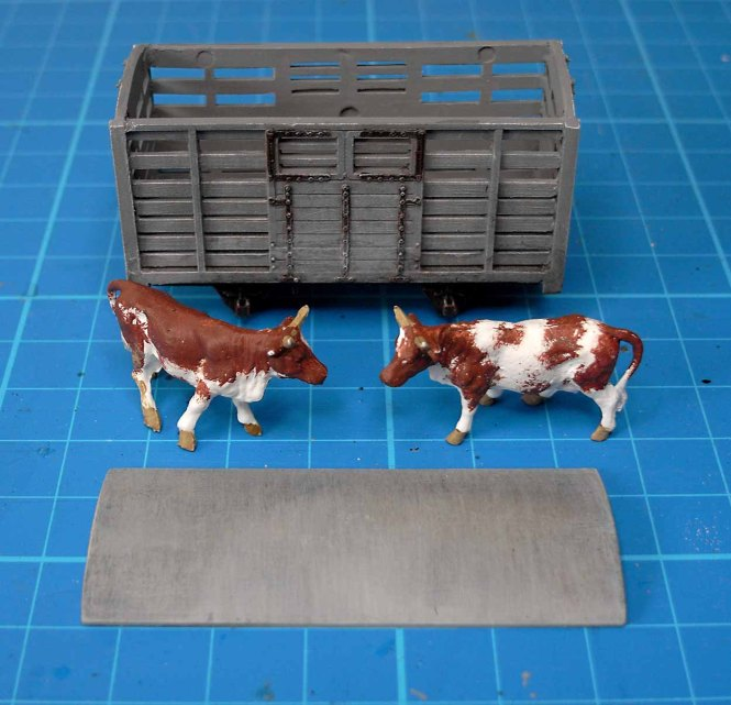 Painted Cattle Wagon Waiting Assembly