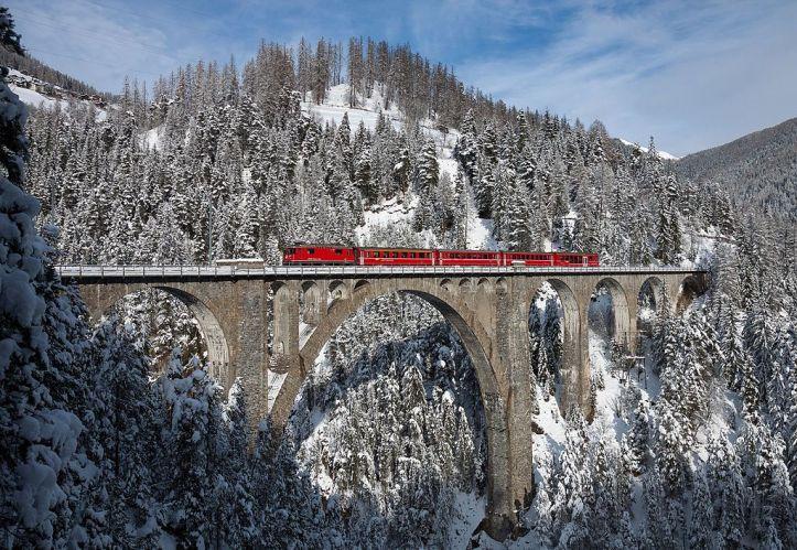 Wiesener Viadukt Rhätische Bahn Switzerland